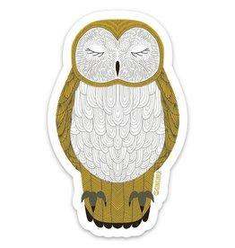 Gingiber Nocturnal Owl Sticker