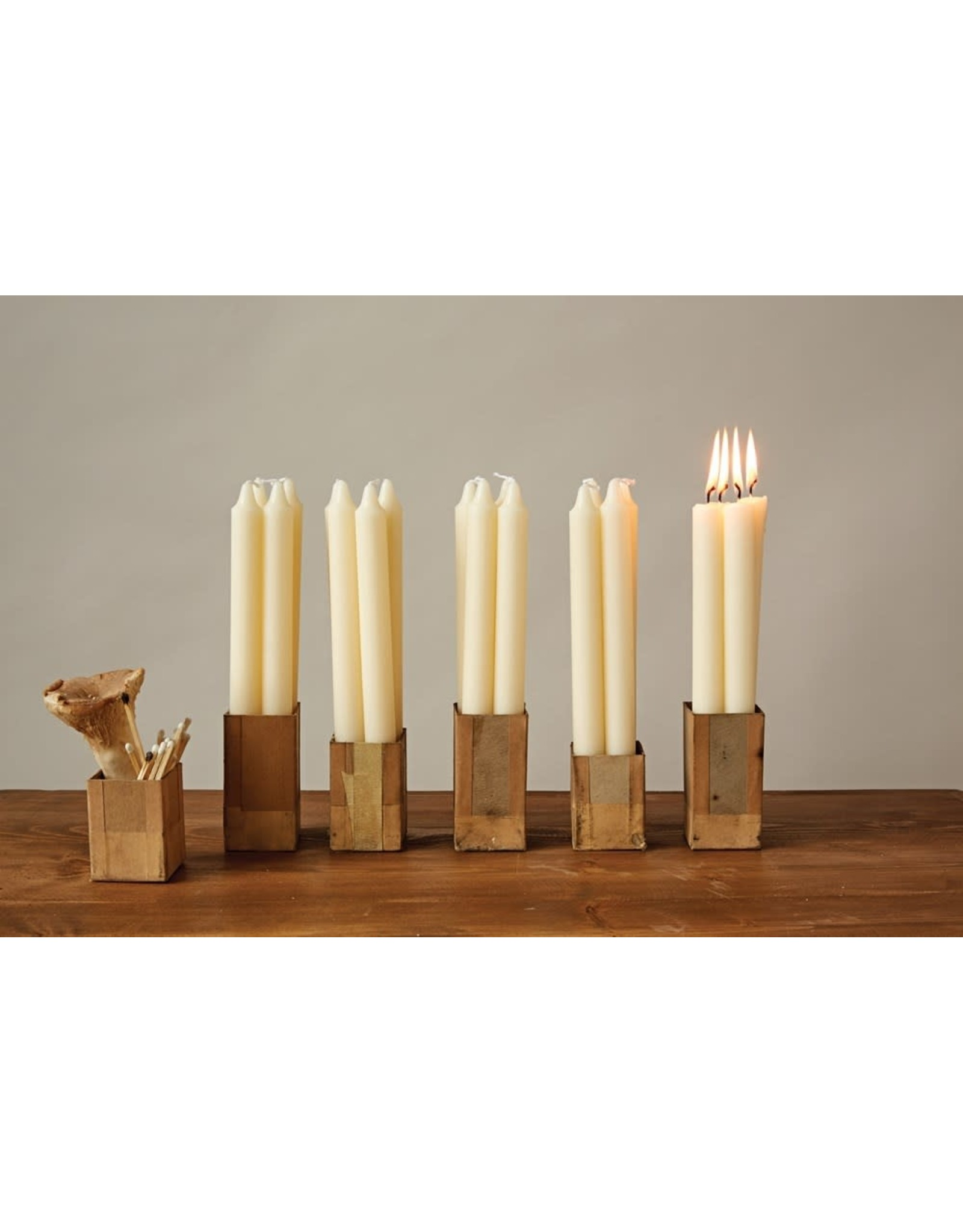 "Creative Co-op 10"" H Unscented Taper Candle in Box, Set of 12"