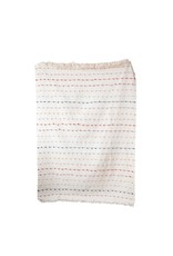 """Creative Co-op 60"""" L x 50"""" W Throw w/ Multi-Color Stitching"""