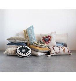 """Creative Co-op Hook Lumbar Pillow, Multi Color """"Sun Please"""""""
