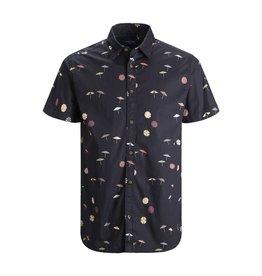 Jack & Jones Umbrella Button Down Short Sleeve Shirt