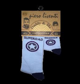 Piero Liventi Daddy & Me Sock Set - SuperDad/SideKick