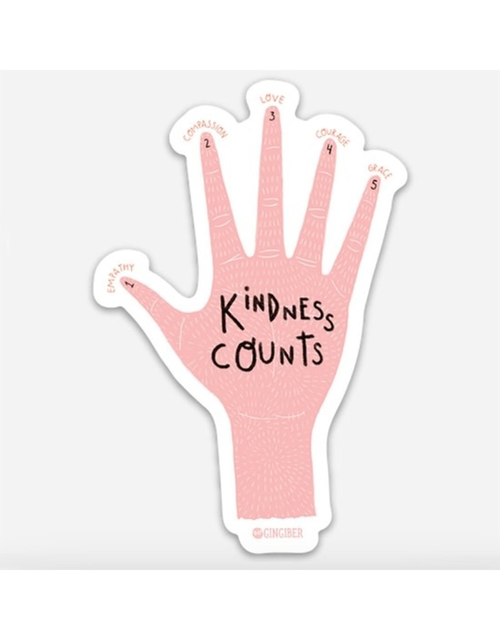 Gingiber Kindness Counts Sticker