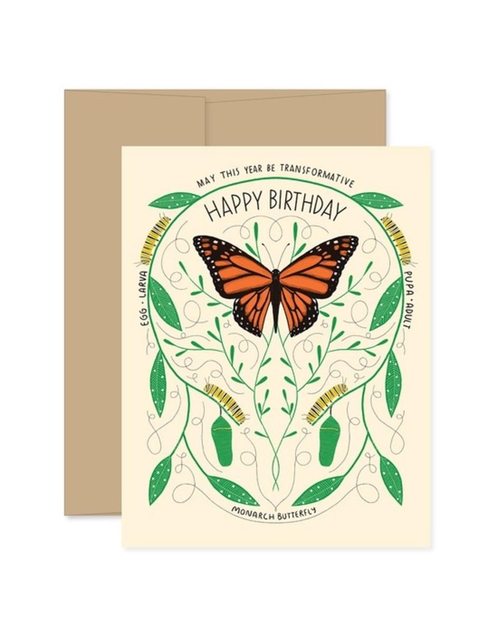 Gingiber Metamorphosis Birthday Card