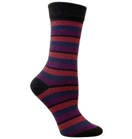 RocknSocks '76 Lilith Stripe Crew Socks- L
