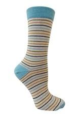 RocknSocks '76 - Bernie Aqua Crew Socks - L