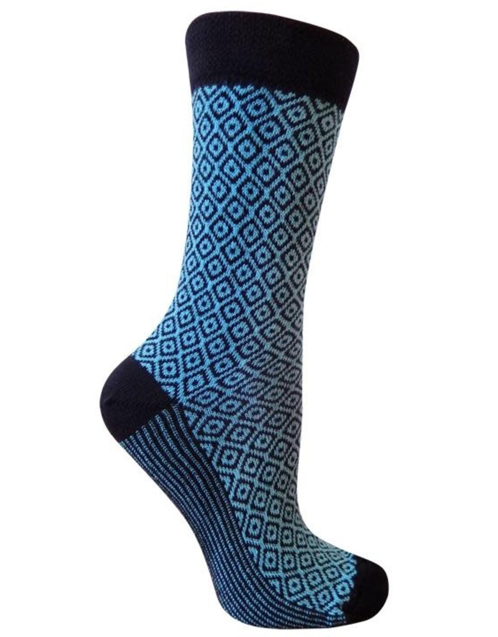 RocknSocks '76 - Zara Aqua Crew Socks - L