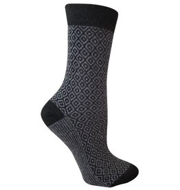 RocknSocks '76 - Zara Gray Crew Socks - L