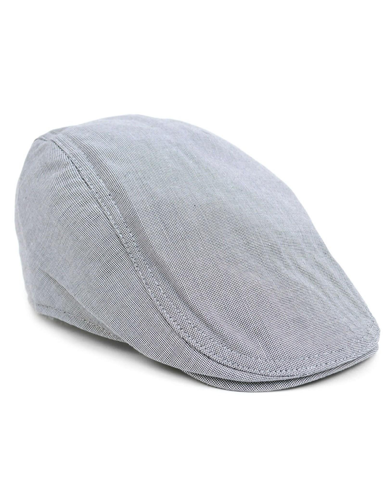 Selini New York Classic Crosshatch Patterned Hat
