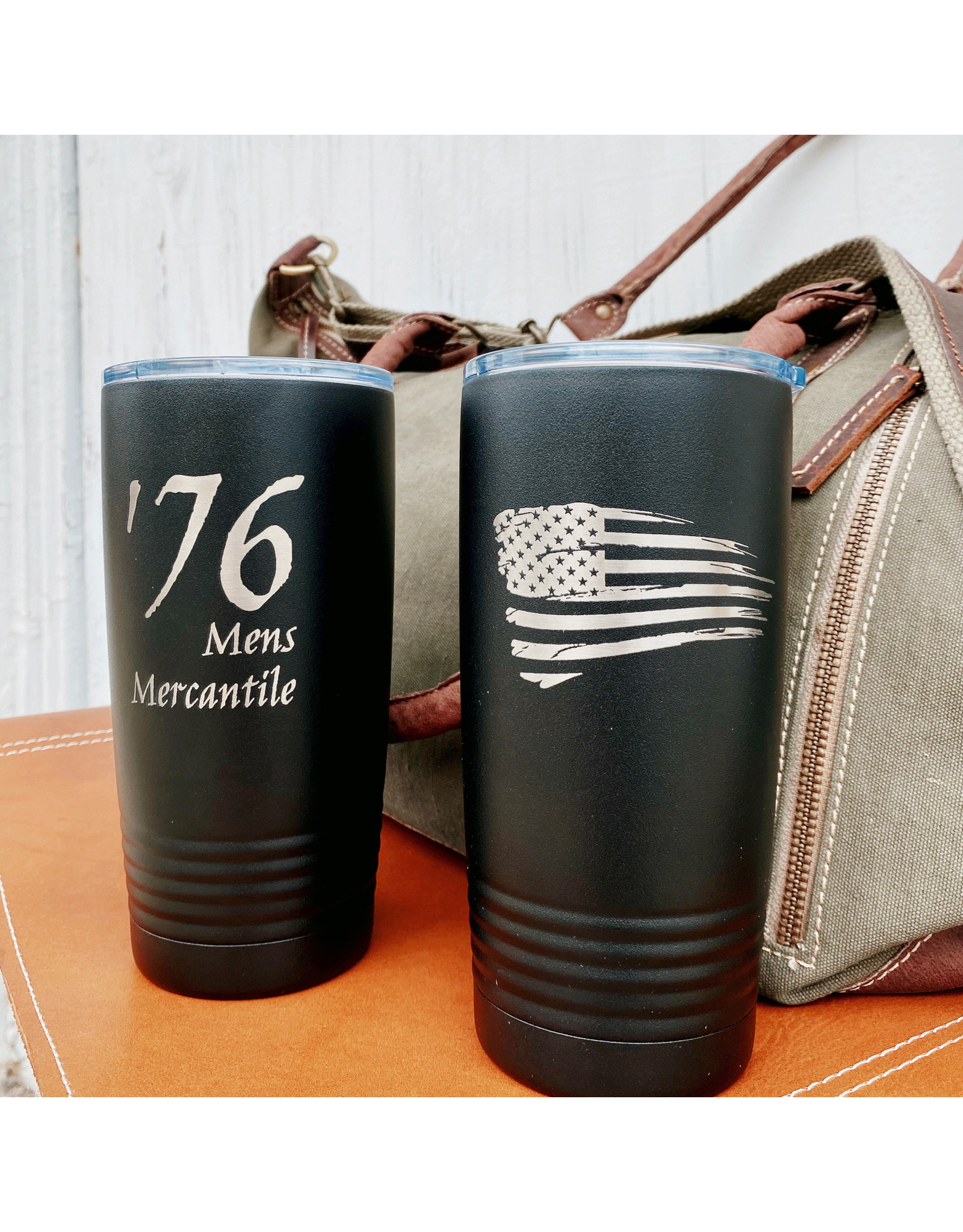 '76 Mens Mercantile '76 Black Insulated Cup 20 oz