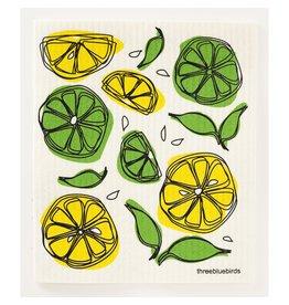 Three Bluebirds Lemon Lime Swedish Dish Cloth