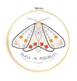 Gingiber Dwell in Possibility  DIY Embroidery Kit