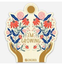 Gingiber I'm Growing Sticker