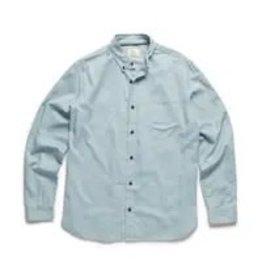 '76 Mens Mercantile Spacedye Oxford Shirt - Storm Blue