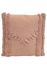 "The Florist & The Merchant 22"" Cotton Embroidered Pillow - Blush"