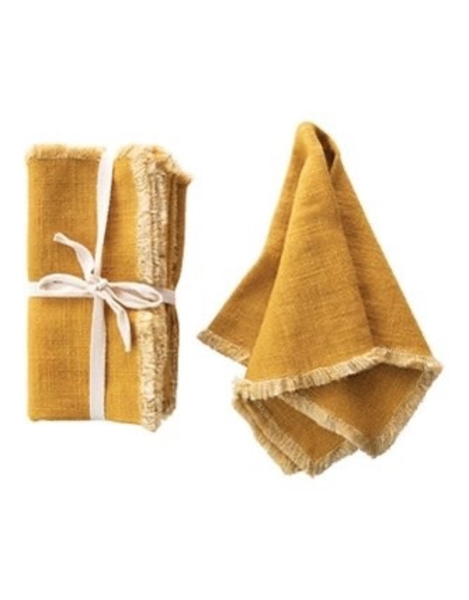 The Florist & The Merchant Linen Napkin - Mustard Set of 4