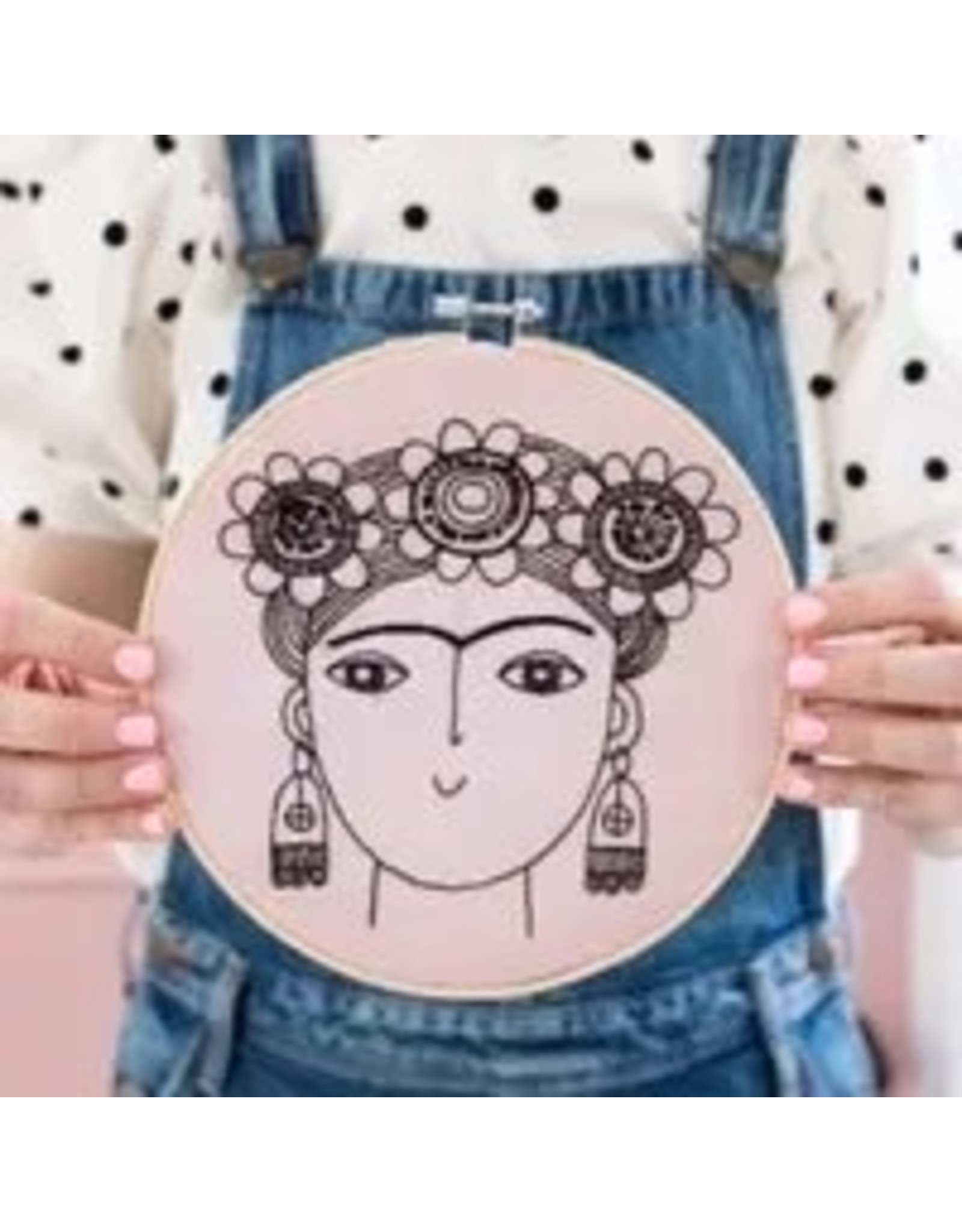 The Florist & The Merchant Frida Kahlo Embroidery Kit by Jane Foster