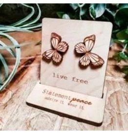The Florist & The Merchant Butterfly Studs