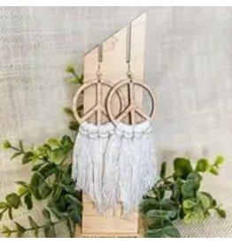 The Florist & The Merchant Peace Fringe Earrings
