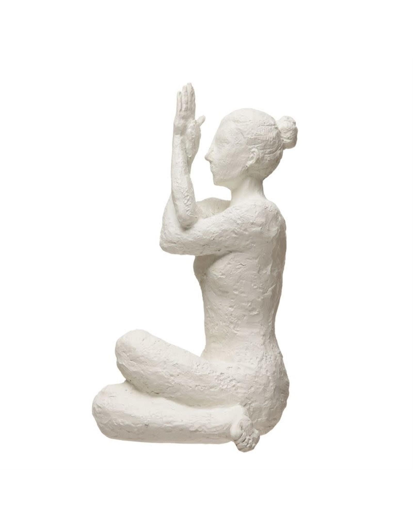 The Florist & The Merchant White Resin Yoga Figure, Volcano Finish