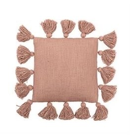 "The Florist & The Merchant 12"" Square Tassel Throw Pillow"