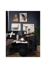 """The Florist & The Merchant 20"""" Wool Swiss Cross Pillow - black & cream"""