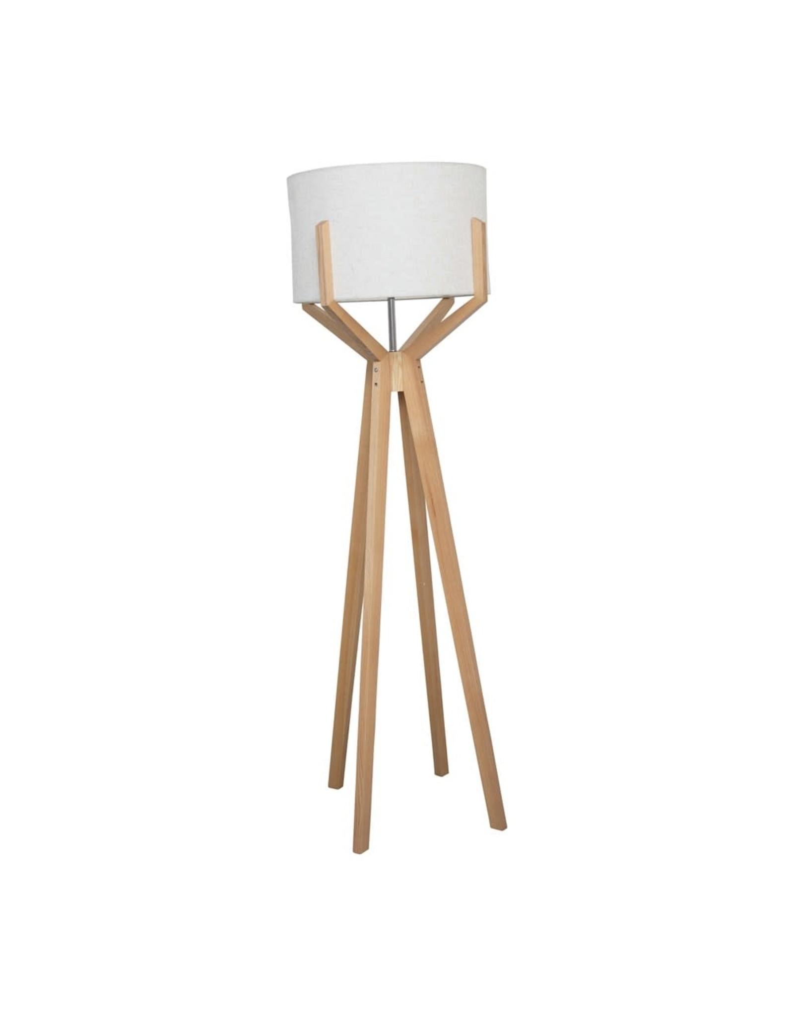 "The Florist & The Merchant 65"" Wood Floor Lamp"