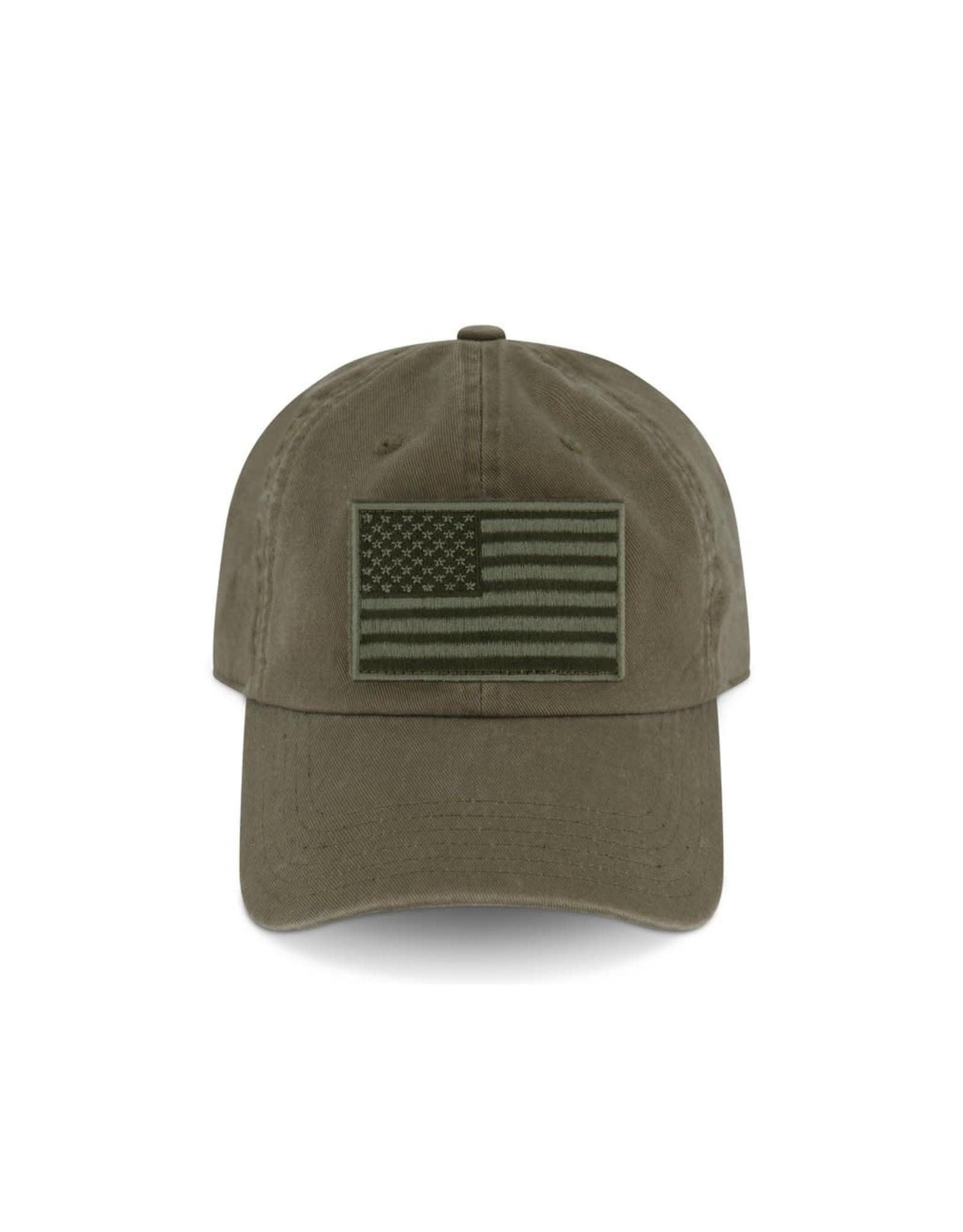 '76 Mens Mercantile Devil Dog Embroidered Green Flag Hat