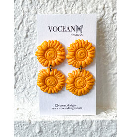 The Florist & The Merchant Sunflower Dangle Studs