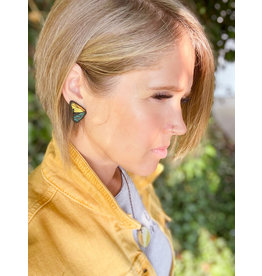 The Florist & The Merchant Multi-colored Butterfly Earring Studs