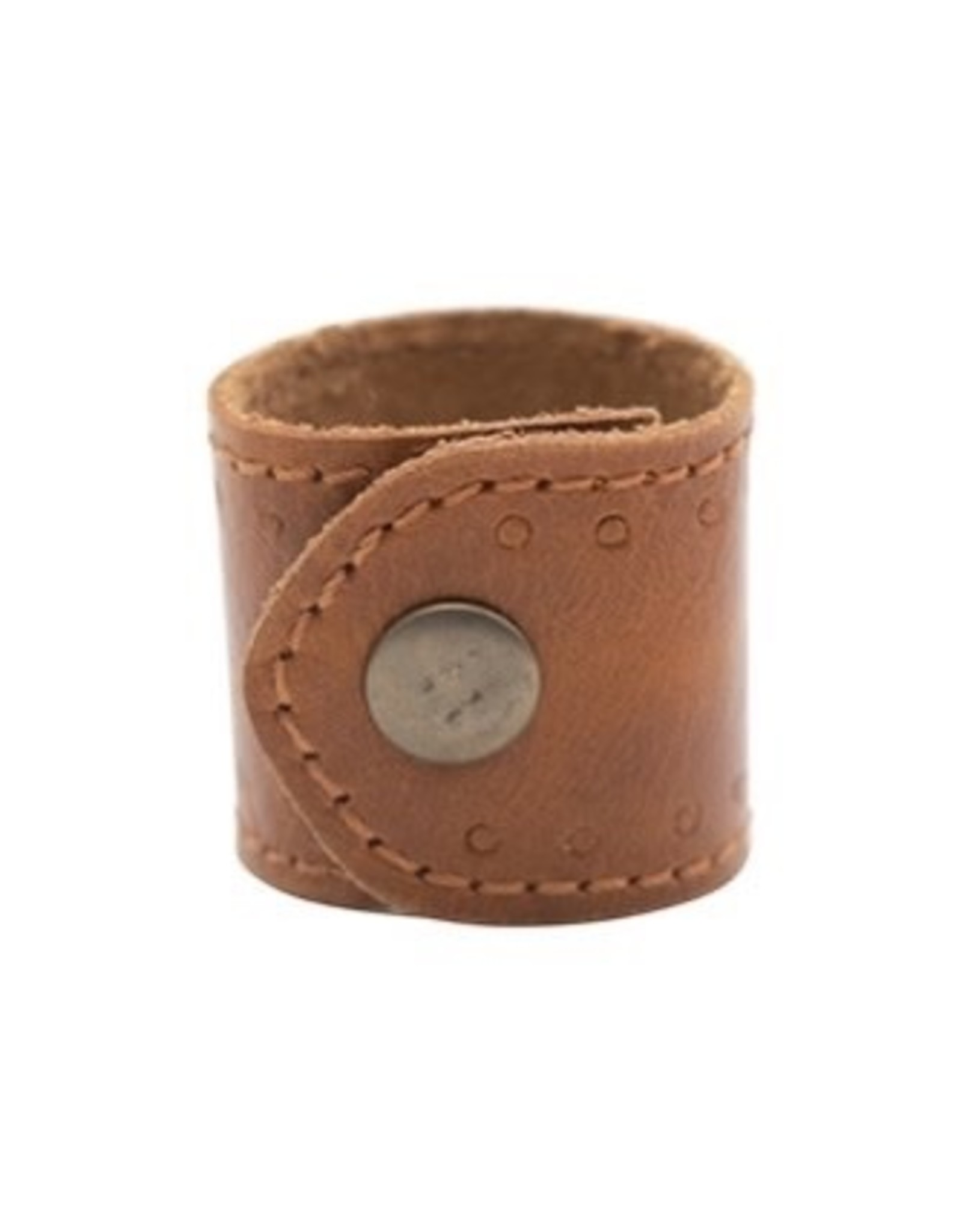 The Florist & The Merchant Leather Napkin Ring w/Snap Closure