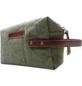 Vintage Addiction Shaving Bag - Olive Green