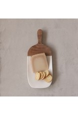 """The Florist & The Merchant 12"""" Marble & Wood Cutting Board"""