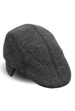 '76 Mens Mercantile Herringbone Ivy Hat w/ Ear Flaps - Charcoal