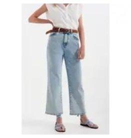 The Florist & The Merchant High Rise Wide Legged Jeans - Bleach Wash