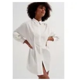 The Florist & The Merchant Long Sleeve Popline Shirt - White