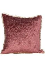 "The Florist & The Merchant 18"" Velvet Pillow Maroon & Gold"