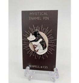 The Florist & The Merchant Magical Cats Hugging Enamel Pin