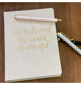The Florist & The Merchant Fabric Covered Journal
