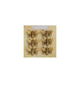 "The Florist & The Merchant 1"" Pewter Bee Magnet Set"