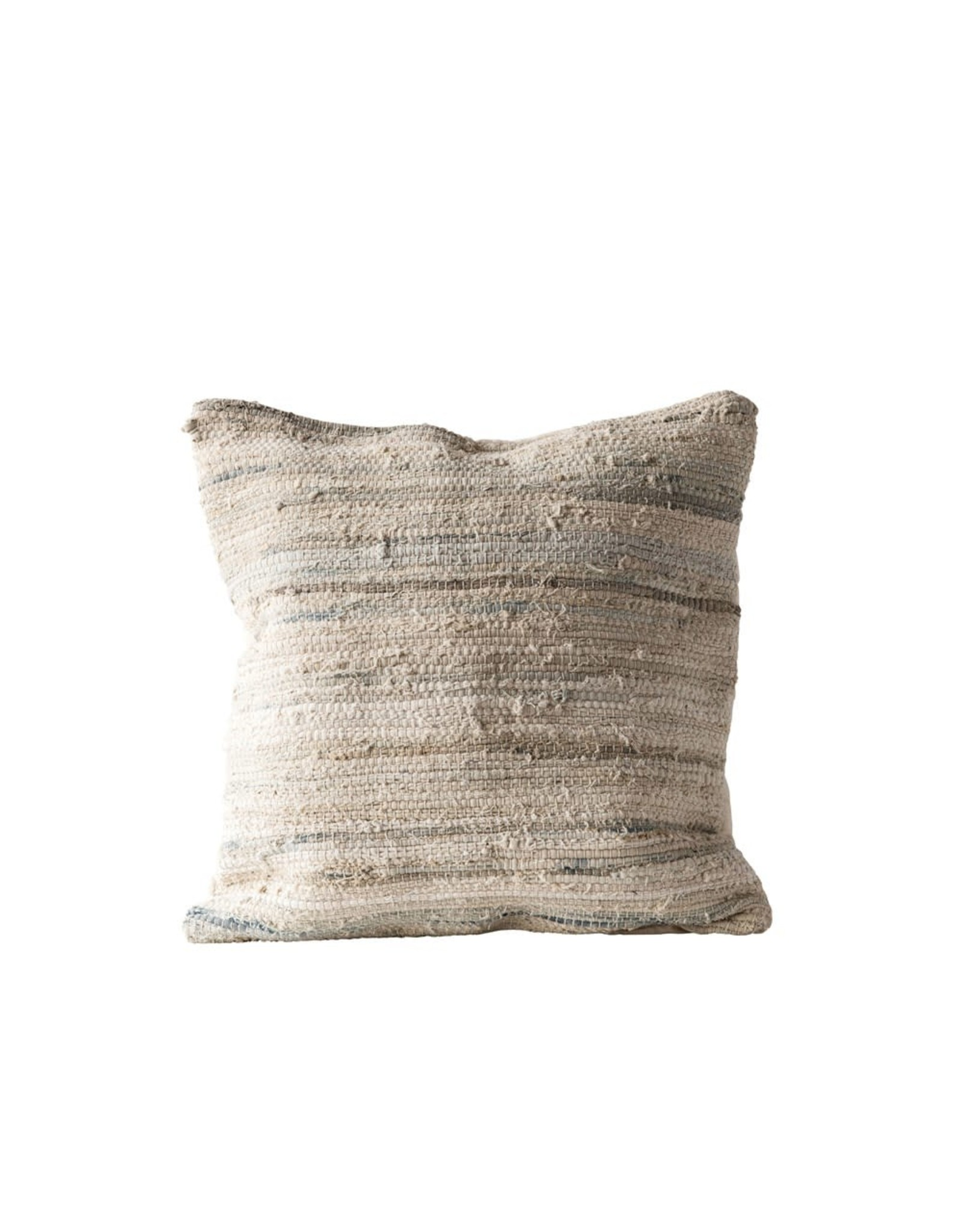 "The Florist & The Merchant 24"" Cotton & Chindi Canvas Pillow"