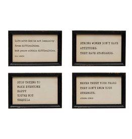 "The Florist & The Merchant 9"" Framed Saying Wall Decor"