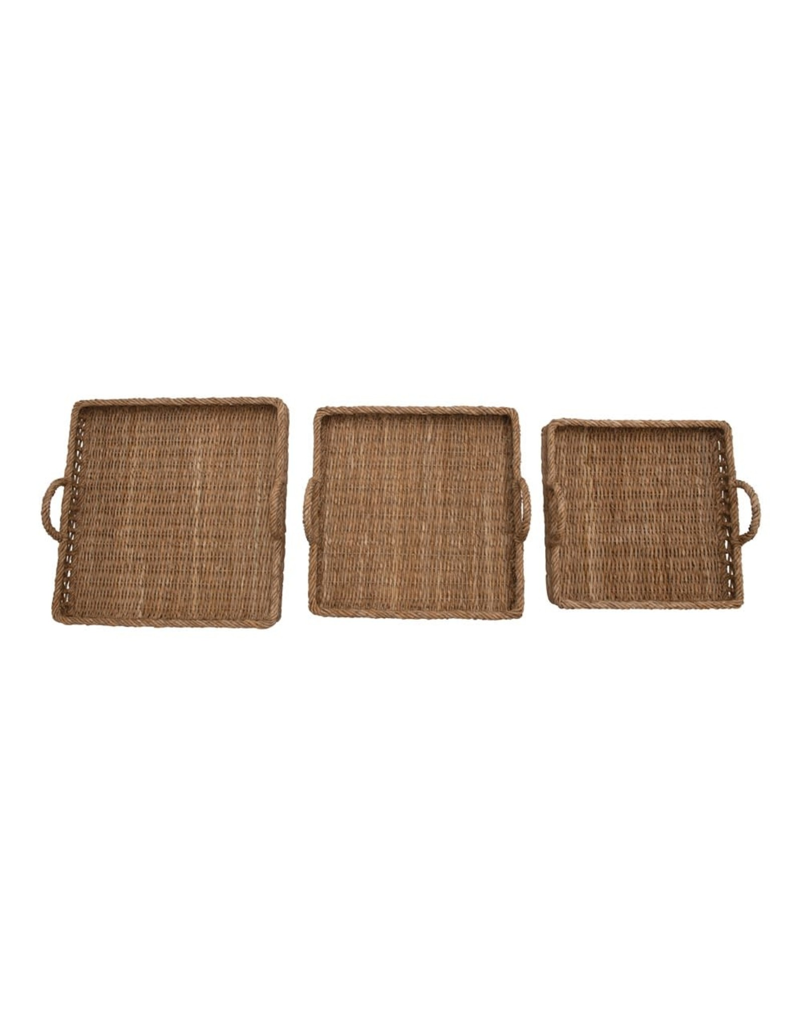 The Florist & The Merchant Square Water Hyacinth & Rattan Trays