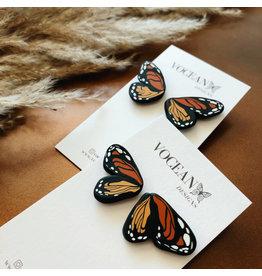 The Florist & The Merchant Mini Monarch Butterfly Earring Studs