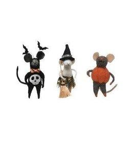 "The Florist & The Merchant 6"" Wool Felt Halloween Mice"