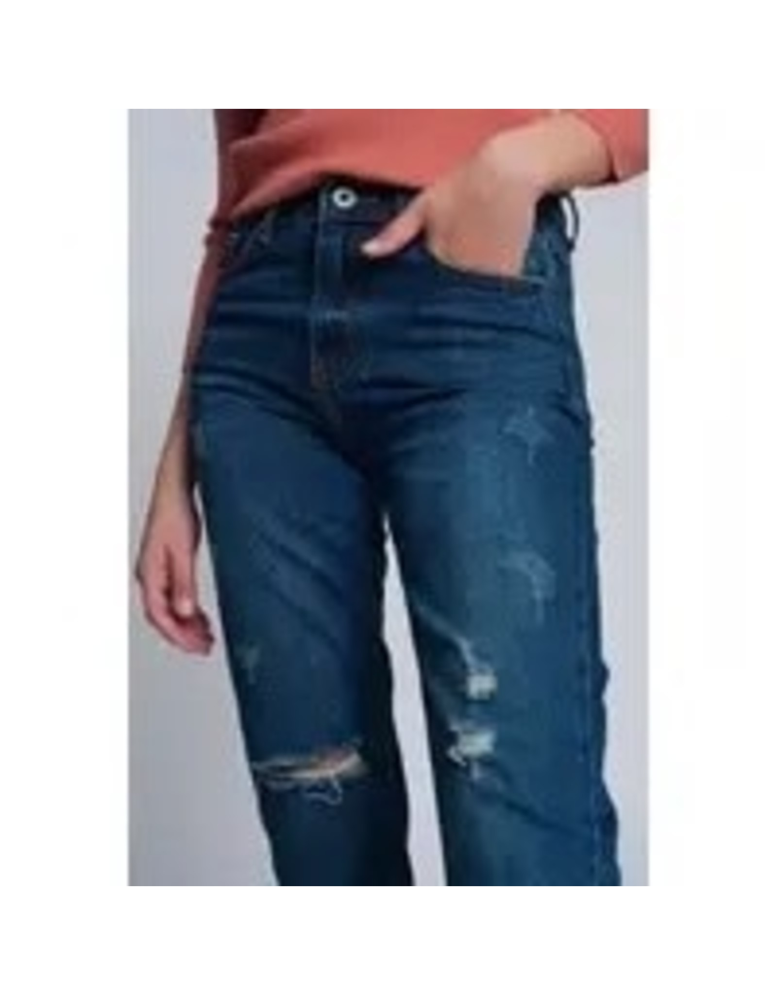 The Florist & The Merchant Mid-rise Distressed Jeans
