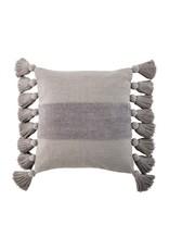 The Florist & The Merchant Chenille Center Stripe w/ Tassel Trim Pillow