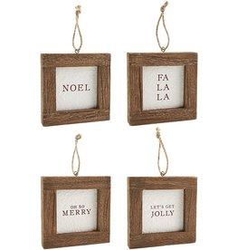 "The Florist & The Merchant 5"" x 5"" Christmas Frame Word Ornament"