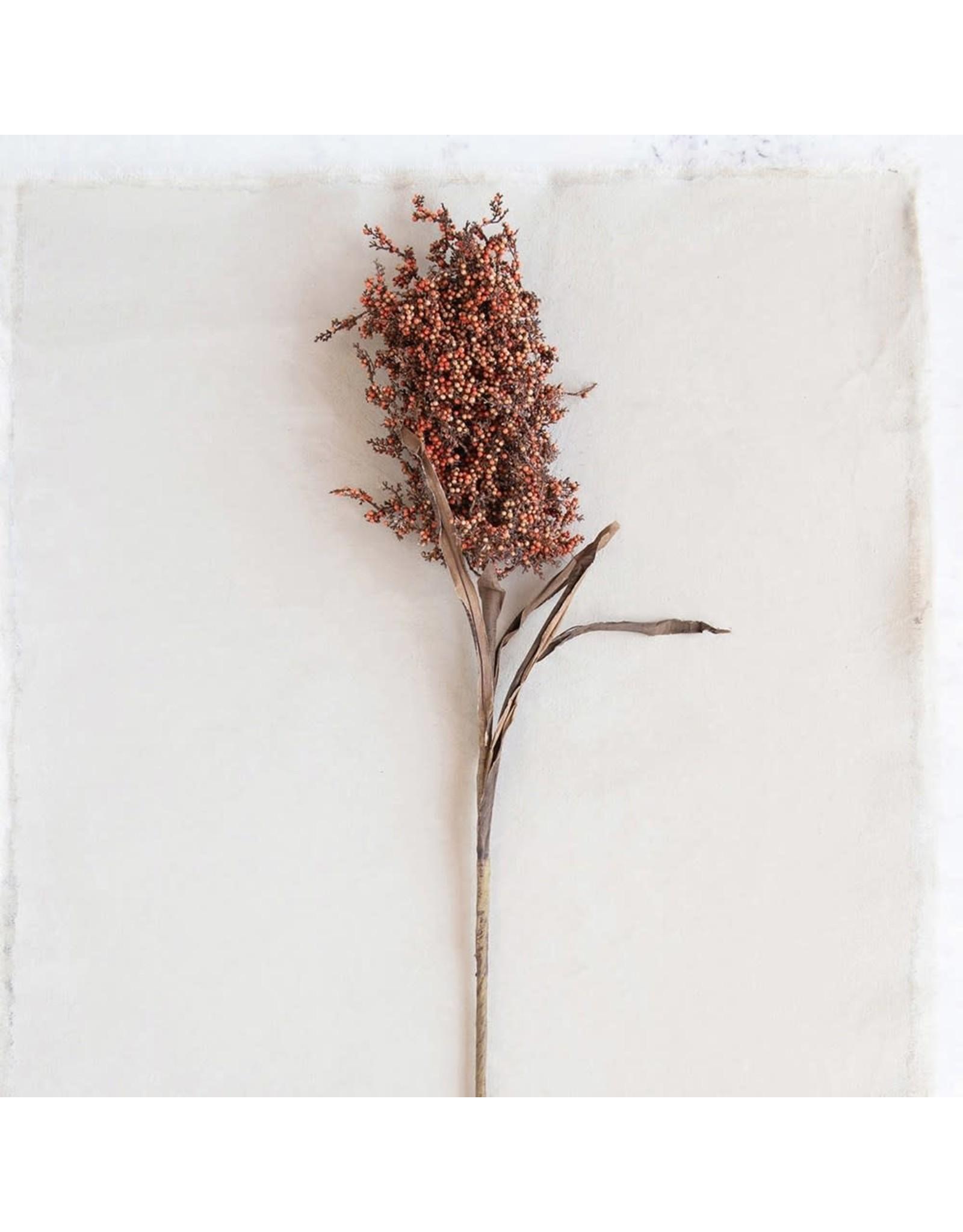 """The Florist & The Merchant 35"""" Faux Millet Branch - Orange"""