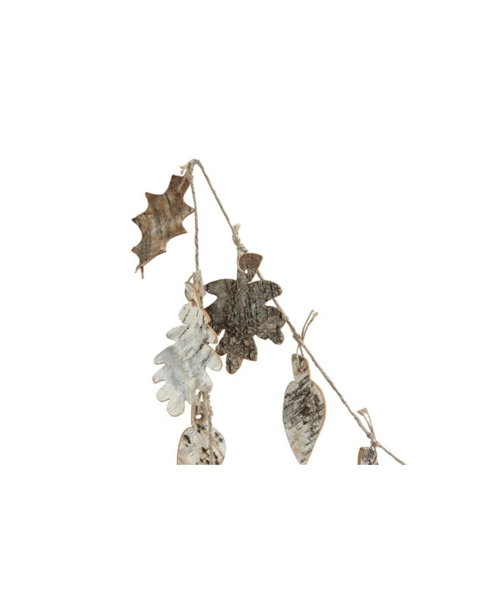"The Florist & The Merchant 72""L Birch Bark Leaf Garland"